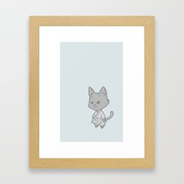 Martial Arts Kitty Framed Art Print
