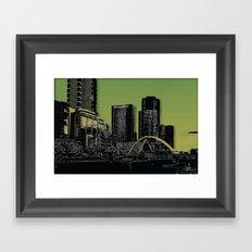 Melbourne City - Footbridge over Yarra River  Framed Art Print