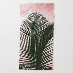 Palms on Pink Beach Towel