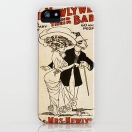 Vintage poster - The Newlyweds and their Baby iPhone Case