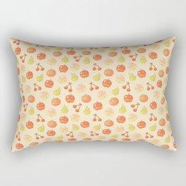 Fruits Pixel Art Pattern | Apple Pear Orange Cherry Peach Rectangular Pillow