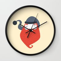 beard Wall Clocks featuring Beard by Volkan Dalyan