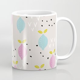 Botanical fruit garden colorful summer lemons pop pattern Coffee Mug