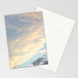 Sunset cloudy sky Stationery Cards