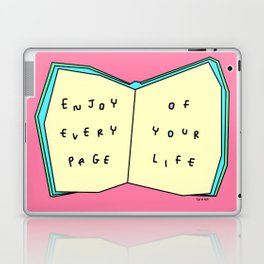 Words from a Colorful Book - inspirational quote illustration Laptop & iPad Skin