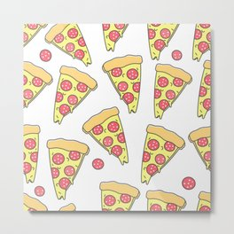 FUNNY PIZZA PATTERN Metal Print
