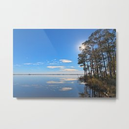 Blackwater Sunburst Marsh Metal Print