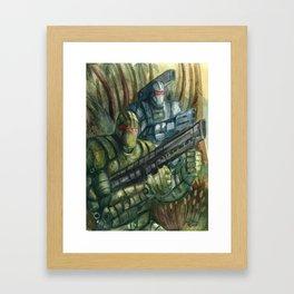 Jungle Assault Framed Art Print