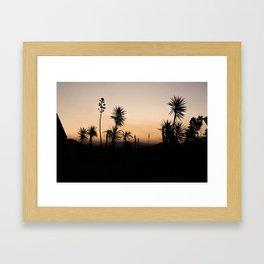 Silhouettes of Sunset Framed Art Print