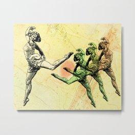 Vintage Made Modern: Dancing Abstract Woman Metal Print