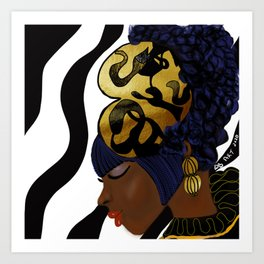 MAKEDA'S CROWN Art Print