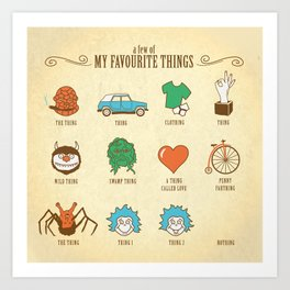 A Few Of My Favourite Things Art Print