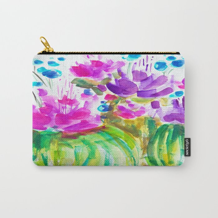 Flowerista Cactus Carry-All Pouch