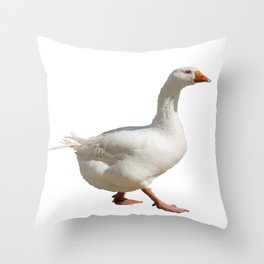 Lovely Weather For Ducks Vector Throw Pillow