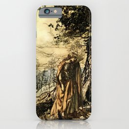 """Brunhilde Dazed and Alarmed"" by Arthur Rackham iPhone Case"
