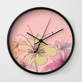 Blossoming buds Wall Clock