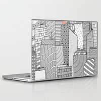 skyline Laptop & iPad Skins featuring Skyline  by  Steve Wade ( Swade)