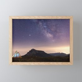 Milky Way Sky Night Space Landscape Astro Framed Mini Art Print