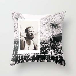 Hipsters from 1970. Throw Pillow