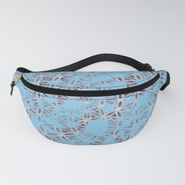 Not Your Typical Blue Print Fanny Pack