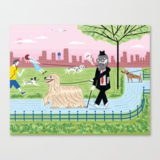 The Dog Walkers Canvas Print