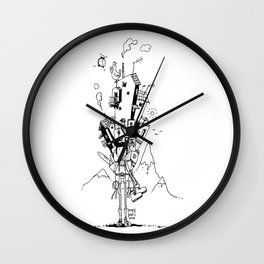 One way ticket Wall Clock