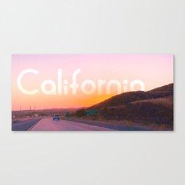 sun behind the hill Canvas Print