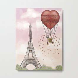 From Paris, With Love Metal Print