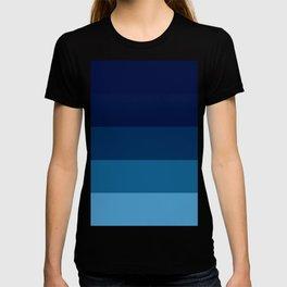 Teal Ocean Blue Stripes T-shirt