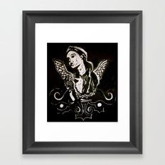Black (Wings/Angel) Framed Art Print