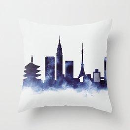 Tokyo Skyline Throw Pillow