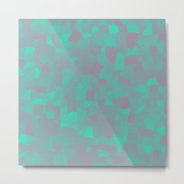 Geometric Shapes Fragments Pattern 2 tq Metal Print