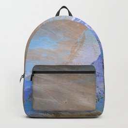 Mountains abstract landscape blue Backpack