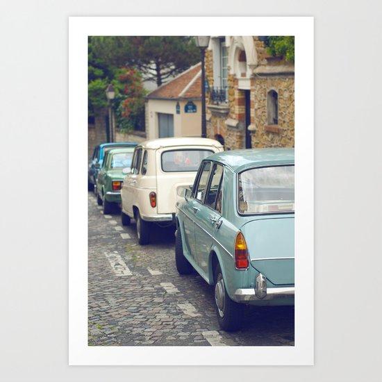 Vintage Parisian Streets Art Print