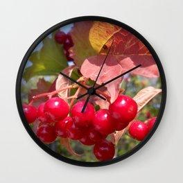 The Red kalinka. Wall Clock