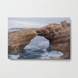 Biarritz Rock Arch Metal Print
