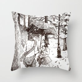 The Lion, the Witch and the Wardrobe Throw Pillow