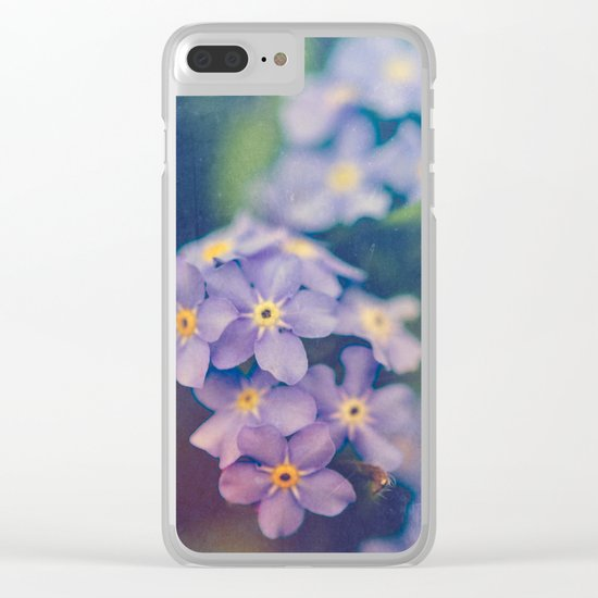 Forget Me Not Clear iPhone Case