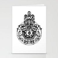 hamsa Stationery Cards featuring Hamsa by B. A Y N S L E Y