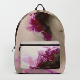 Beautiful,young lady,Belle epoque,victorian era, vintage, angelic girl, beautiful,floral,gentle,peac Backpack