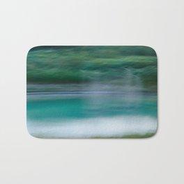 Sweeping Turquoise Lake Bath Mat