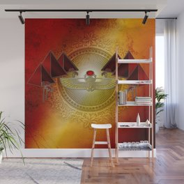Egyptian sign, the scarab Wall Mural