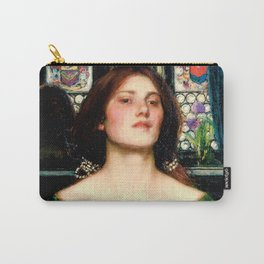 """John William Waterhouse """"Gather Ye Rosebuds While Ye May"""" Carry-All Pouch"""