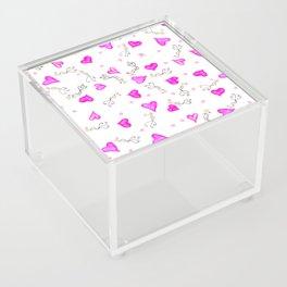 Hearts, birds, and roses Acrylic Box