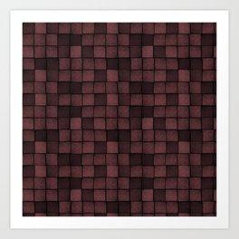 Wood Blocks-Oxblood Art Print