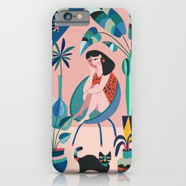 Plant lady ll iPhone Case
