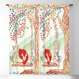 Vibrant Jungle Fox Blackout Curtain