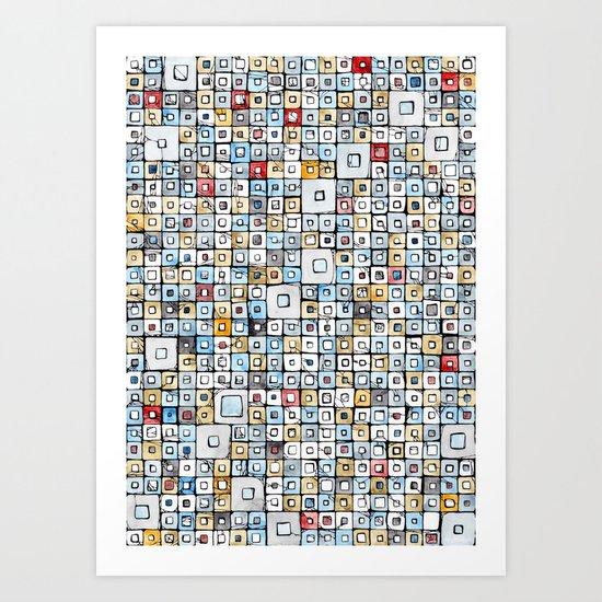 Grid#01 Art Print