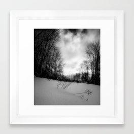 snowy hill. Framed Art Print
