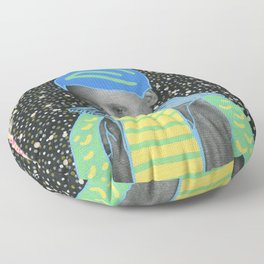 Young Sad Constellation Floor Pillow